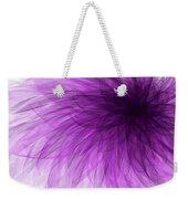 Lavender Spiral Weekender Tote Bag