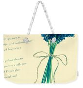 Lavender Tied With A Bow Weekender Tote Bag