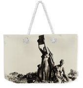Law Prosperity And Power In Black And White Weekender Tote Bag