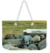 Lawn Water Feature Weekender Tote Bag