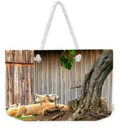 Lawnmowers At Rest Weekender Tote Bag