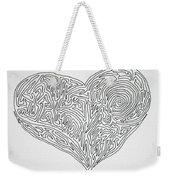 Laying Your Heart On A Line  Weekender Tote Bag
