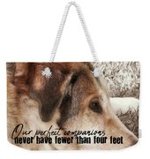 Lazy Day Quote Weekender Tote Bag