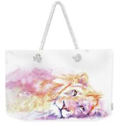 Lazy Days - Lion Weekender Tote Bag
