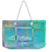 Lazy Days Pastel Squared Weekender Tote Bag