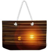 Lazy Summer Afternoon With Sunset View Through The Wooden Window Shades Weekender Tote Bag