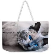 Lazy Summer Quote Weekender Tote Bag