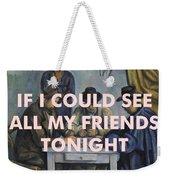 Lcd Soundsystem Lyrics Print Weekender Tote Bag