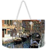 Le Barche Sul Canale Weekender Tote Bag