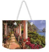 Le Colonne E La Buganville Weekender Tote Bag by Guido Borelli