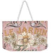 Le Jardin 1 Weekender Tote Bag by Debbie DeWitt