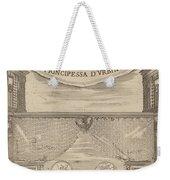 Le Nozze Degli Dei: Frontispiece Weekender Tote Bag