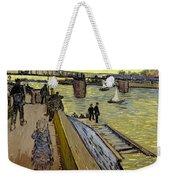 Le Pont De Trinquetaille In Arles Weekender Tote Bag by Vincent Van Gogh