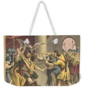 Le Roi, Le Milan, Et Le Chasseur (the King, The Kite, And The Hunter) Weekender Tote Bag