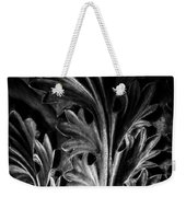 Leaf Detail 2 Black And White Weekender Tote Bag