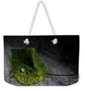 Leaf Droplets Weekender Tote Bag