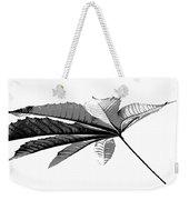 Leaf In Black And White Weekender Tote Bag