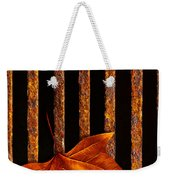 Leaf In Drain Weekender Tote Bag by Carlos Caetano