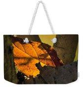 Leaf In Fork Weekender Tote Bag
