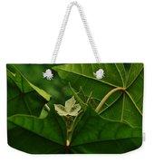 Leaf In The Middle Weekender Tote Bag