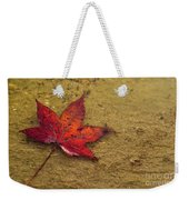 Leaf In The Rain Nature Photograph Weekender Tote Bag