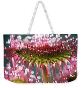 Leaf Of Sundew Weekender Tote Bag by Nuridsany et Perennou and Photo Researchers