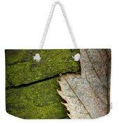 Leaf On Green Wood Weekender Tote Bag
