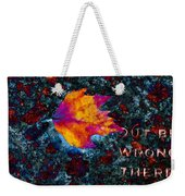 Leaf On Stone Weekender Tote Bag