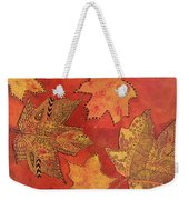 Leaf Prints And Zentangles Weekender Tote Bag