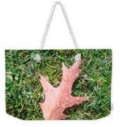 Leaf Resisting The Rain Weekender Tote Bag