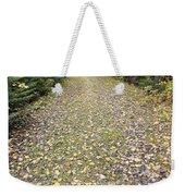 Leaf-strewn Trail Weekender Tote Bag