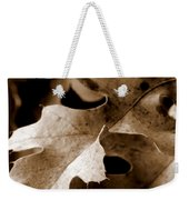 Leaf Study In Sepia IIi Weekender Tote Bag