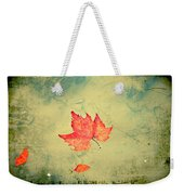 Leaf Upon The Water Weekender Tote Bag by Bill Cannon