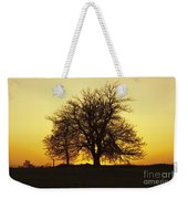 Leafless Tree Against Sunset Sky Weekender Tote Bag