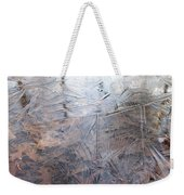 Leafs And Ice Weekender Tote Bag