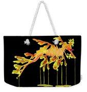 Leafy Sea Dragon On Black Weekender Tote Bag