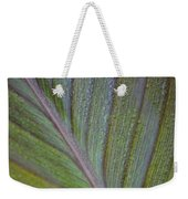 Leafy Texture Weekender Tote Bag