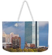 Lean Into It- Sailboats By The Hancock On The Charles River Boston Ma Weekender Tote Bag