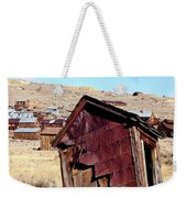 Leaning Bodie Outhouse Weekender Tote Bag