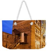 Leaning Tower By Night In Torun Weekender Tote Bag