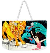 Leap Away From The Lion Weekender Tote Bag