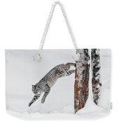 Leapin Bobcat Weekender Tote Bag