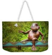 Leaping Frog In Boston  Weekender Tote Bag