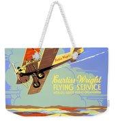 Learn To Fly Vintage Poster Restored Weekender Tote Bag