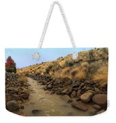 Learn To Swim, Creek Bed Quickly Filling With Water During Autumn Rainstorms In The High Desert Weekender Tote Bag