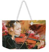 Learning The Violin Weekender Tote Bag