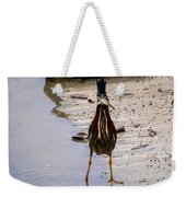 Least Bittern With A Fish Weekender Tote Bag