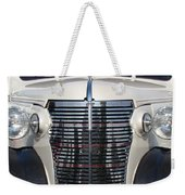 Leather And Chrome Weekender Tote Bag