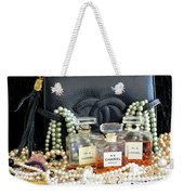 Leather And Lace 3 Weekender Tote Bag