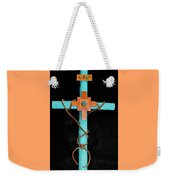 Leather And Stone Cross Weekender Tote Bag